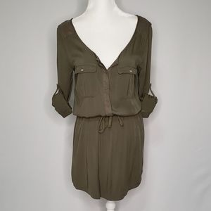 American Eagle Outfitters Army Green Tunic Dress